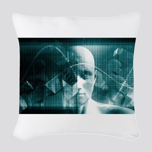 Medical Science Fu Woven Throw Pillow