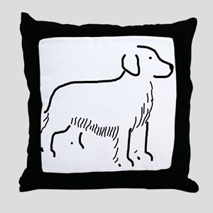 Golden Retriever Sketch Throw Pillow