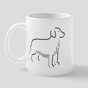 Golden Retriever Sketch Mug