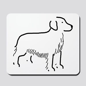 Golden Retriever Sketch Mousepad