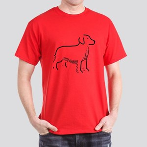 Golden Retriever Sketch Dark T-Shirt