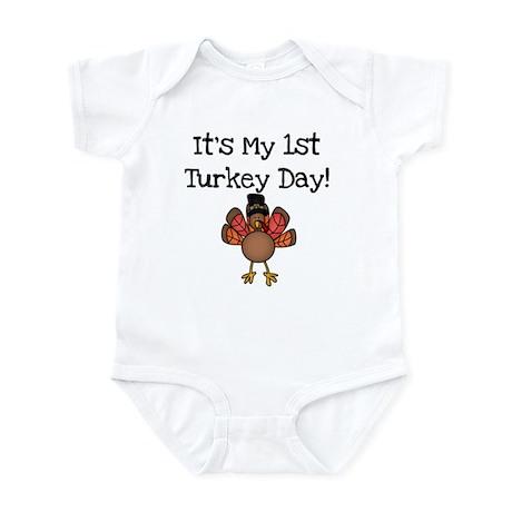 1st Turkey Day Infant Bodysuit