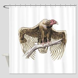 turkey vulture Shower Curtain
