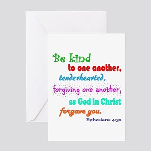 Forgiveness greeting cards cafepress be kind greeting card m4hsunfo