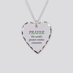 Prayer Necklace Heart Charm
