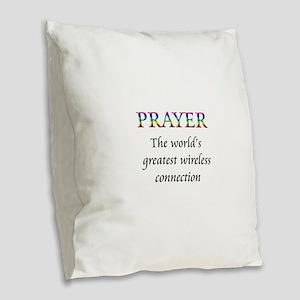 Prayer Burlap Throw Pillow
