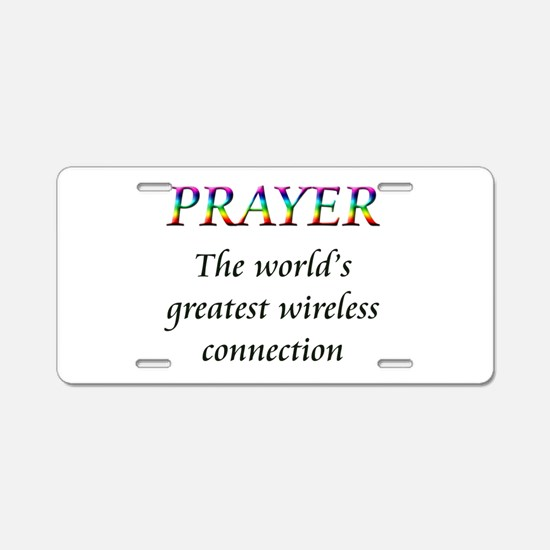 Prayer Aluminum License Plate