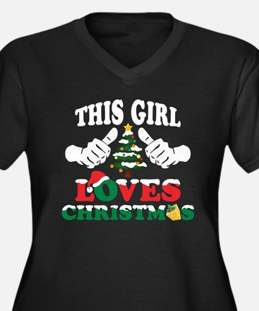 This Girl Loves Christmas Plus Size T-Shirt