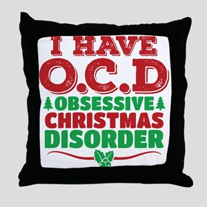 I Have OCD Obsessive Christmas Disorder Throw Pill
