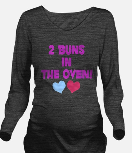 Cute Fraternal twins Long Sleeve Maternity T-Shirt