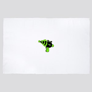 Neon Green Ray Gun 4' x 6' Rug