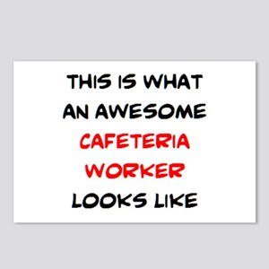 awesome cafeteria worker Postcards (Package of 8)