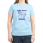 Talk horse - purple Women's Light T-Shirt