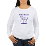 Talk horse - purple Women's Long Sleeve T-Shirt