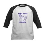 Talk horse - purple Kids Baseball Jersey