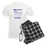 Talk horse - purple Men's Light Pajamas