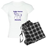 Talk horse - purple Women's Light Pajamas