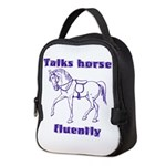 Talk horse - purple Neoprene Lunch Bag