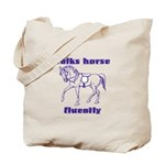 Talk horse - purple Tote Bag