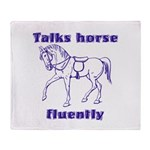 Talk horse - purple Throw Blanket
