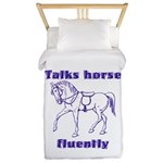 Talk horse - purple Twin Duvet