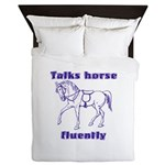 Talk horse - purple Queen Duvet