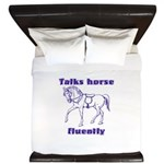 Talk horse - purple King Duvet