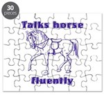 Talk horse - purple Puzzle