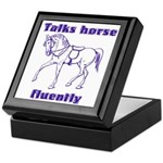 Talk horse - purple Keepsake Box