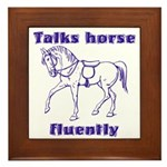 Talk horse - purple Framed Tile