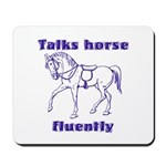 Talk horse - purple Mousepad