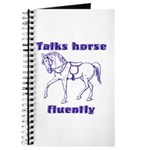Talk horse - purple Journal