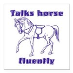 Talk horse - purple Square Car Magnet 3