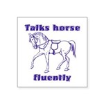 Talk horse - purple Square Sticker 3