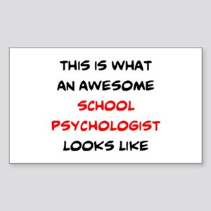 awesome school psychologist Sticker (Rectangle)
