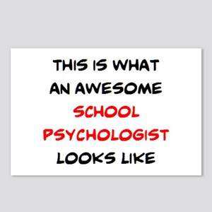 awesome school psychologi Postcards (Package of 8)