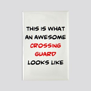 awesome crossing guard Rectangle Magnet
