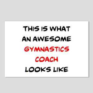 awesome gymnastics coach Postcards (Package of 8)