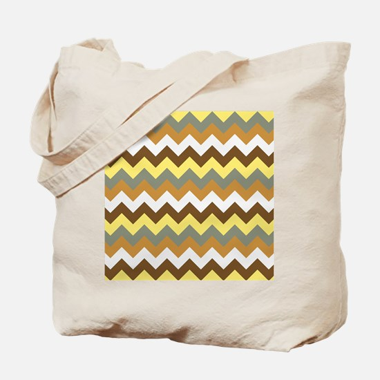 Unique Brown chevron Tote Bag