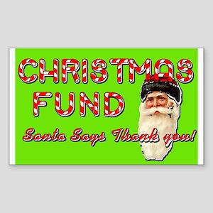Christmas Fund Tip Jar Sticker