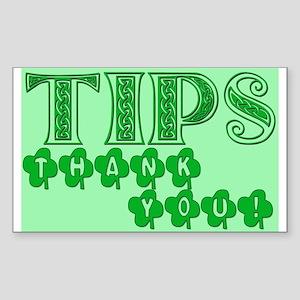 St Patrick's Day Tip Jar Sticker