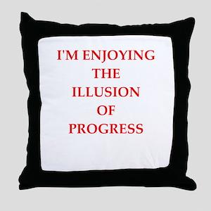 progress Throw Pillow