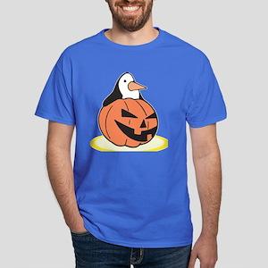 Penguin in Pumpkin Dark T-Shirt