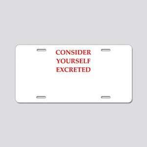 consider Aluminum License Plate