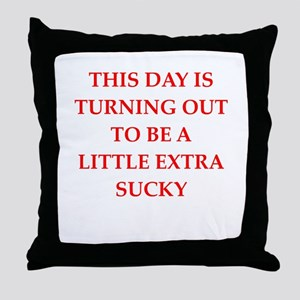 sucky Throw Pillow
