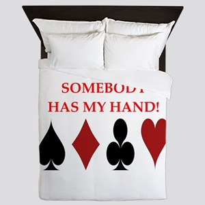 card player Queen Duvet