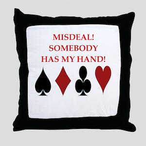 card player Throw Pillow