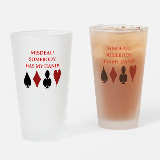 card player Drinking Glass