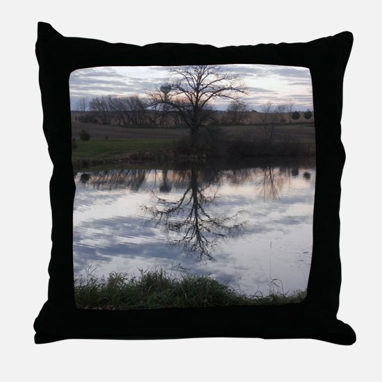Funny Fall trees Throw Pillow