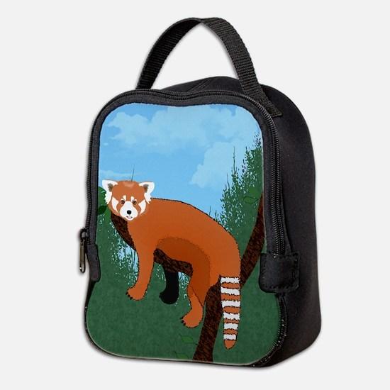 Red Panda Neoprene Lunch Bag